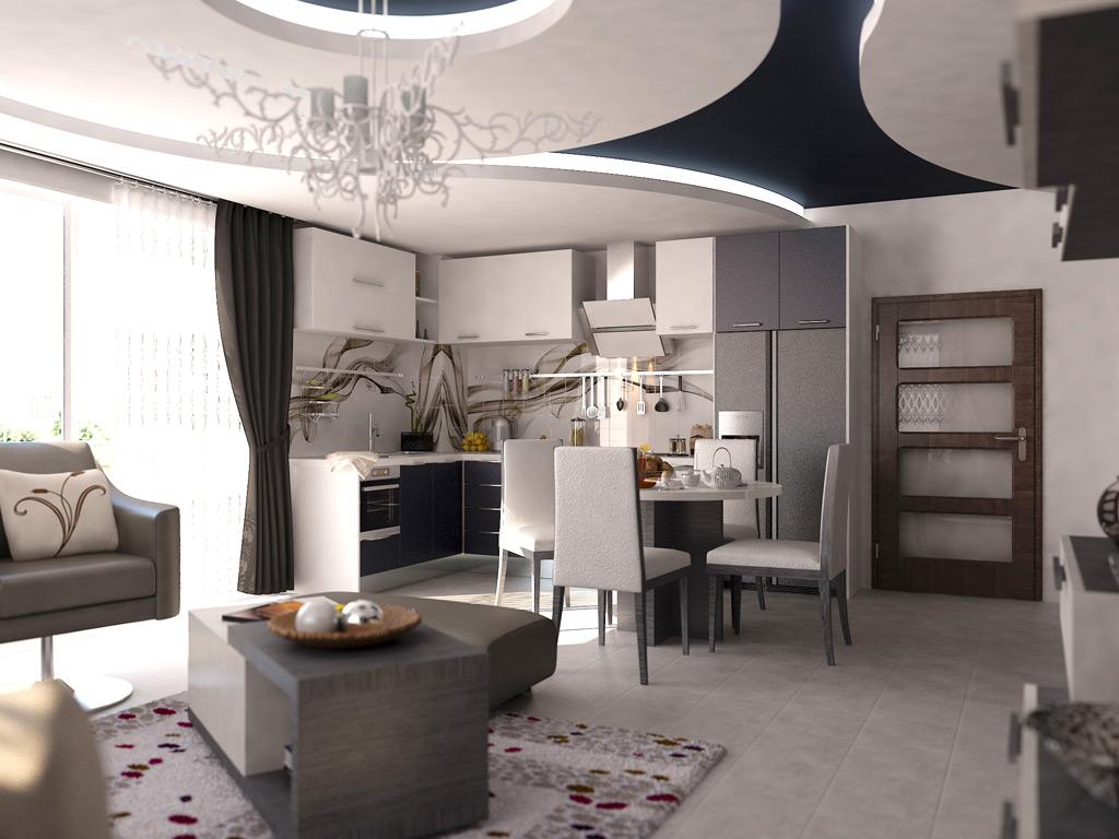 CERAY Park Musterwohnung Wohnzimmer 3