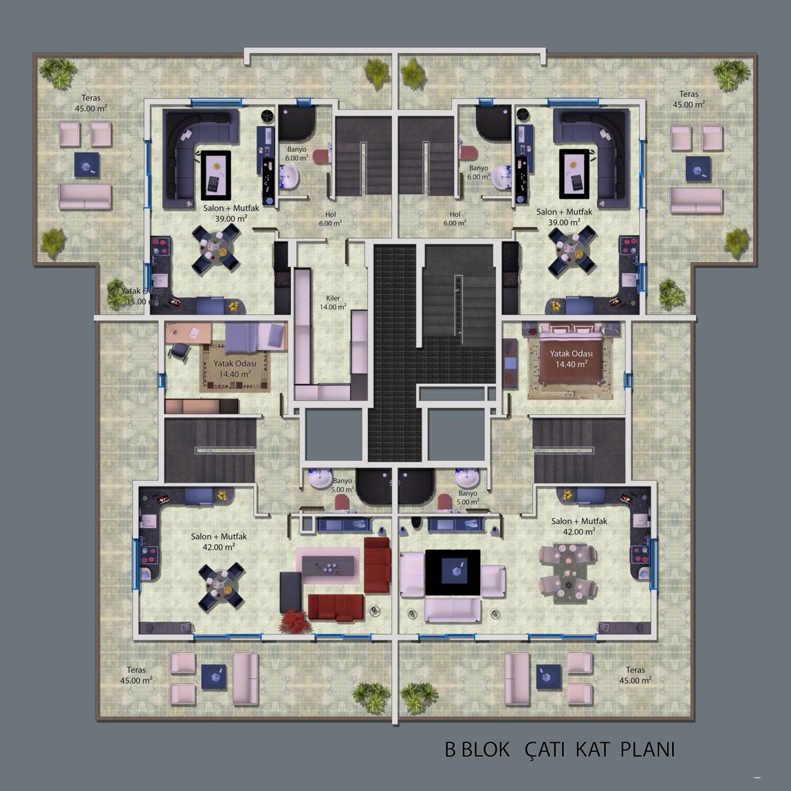 Ceray PARK Grundriss Penthouse Ost